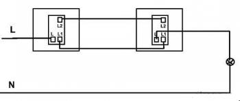 单联双控开关接线图示意图