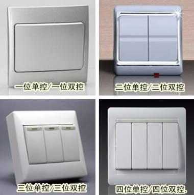 开关插座有哪些种类,怎样分类
