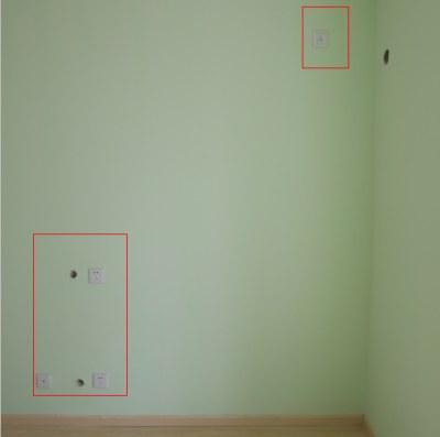 家装开关插座布置图之卧室电视